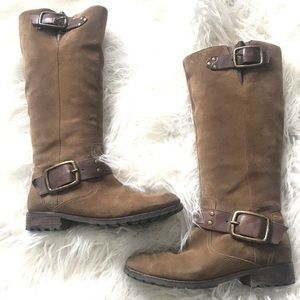 Jessica Simpson brown suede Hansel tall boots